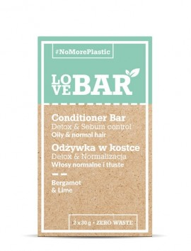 LOVEBAR Conditioner Bar Detox & Sebum Control Bergamot & Lime (2 x 30g)