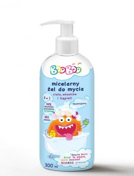 BooBoo Micellar Shower Gel 3 In 1 Body/Hair/Bath 300ml