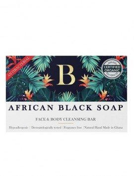 African Black Soap Antibacterial Face And Body Cleansing Bar