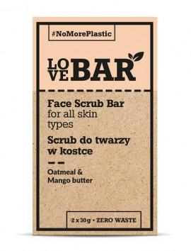 LOVEBAR Face Scrub Bar (All Skin Types) Oatmeal & Mango Butter (2 x 30g)