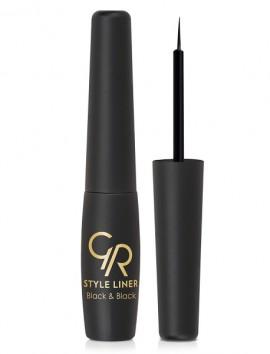 Golden Rose Style Liner Black & Black Eyeliner (6.5ml)
