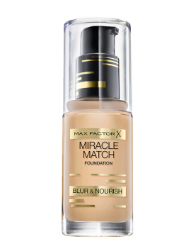 Max Factor Miracle Match Foundation Blur & Nourish No 45 Warm Almond (30ml)