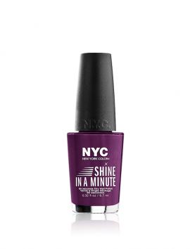 NYC Shine In A Minute Nail Polish No 500 Broadway Purple (9.7ml)