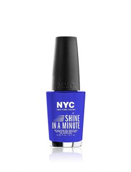 NYC Shine In A Minute Nail Polish No 700 Staten Island Blue (9.7ml)