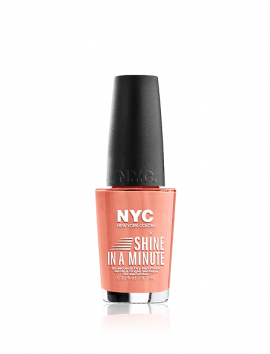 NYC Shine In A Minute Nail Polish No 345 Peach Popsicles (9.7ml)