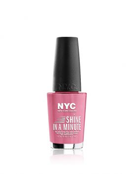 NYC Shine In A Minute Nail Polish No 302 Pink Fashion Week (9.7ml)