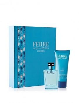 Gianfranco Ferre Acqua Azzurra Men Gift Set Eau De Toilette Spray 100ml