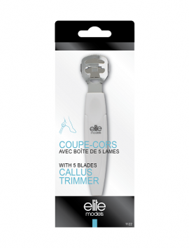 Elite Models Callus Trimmer With 5 Blades (1122)