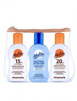 Malibu Travel Bag Lotion SPF15 / Lotion SPF20 / Aftersun (3x100ml)