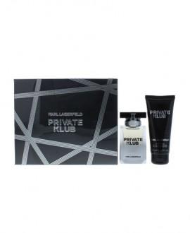 Karl Lagerfeld Private Klub Men Gift Set Eau De Toilette Spray 50ml & All Over Shower Gel 100ml