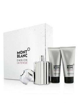 Mont Blanc Emblem Intense Gift Set Men Eau De Toilette Spray 100ml & After Shave Balm 100ml & Shower Gel 100ml