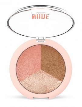 Golden Rose Nude Look Baked Trio Face Powder (19.5g)